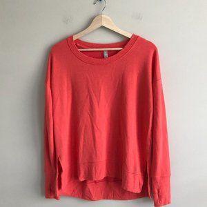 Athleta Peachy Orange Long Sleeve Crewneck Sweatshirt Women's Size Medium M